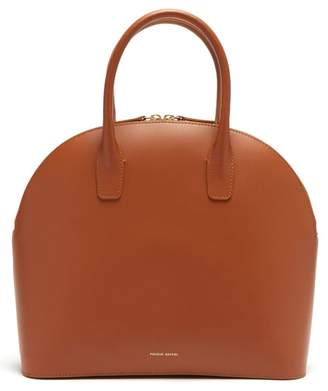 Mansur Gavriel Top Handle Leather Bag - Womens - Tan