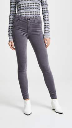 J Brand Maria High Rise Velvet Skinny Pants