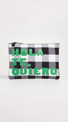 Clare Vivier Gingham Hola Flat Clutch