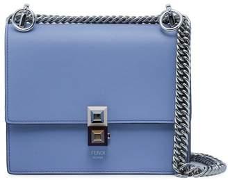 Fendi Blue Kan I Small Leather shoulder bag
