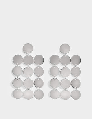 Saskia Diez Paillettes Chandelier N°1 Earrings in Silver