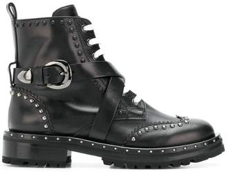 Ermanno Scervino cross buckle boots
