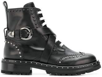 Ermanno Scervino cross buckle boots