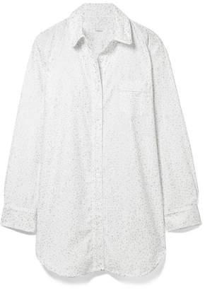 Three J NYC Grace Printed Cotton-flannel Nightdress - White