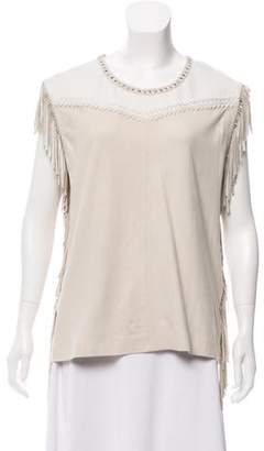 IRO Suede Fringed Top