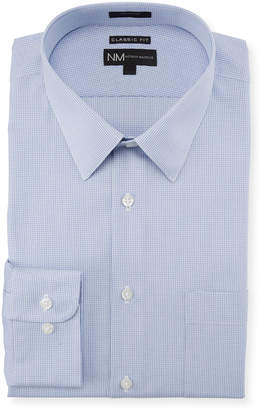 Neiman Marcus Classic-Fit Regular-Finish Textured Solid Dress Shirt
