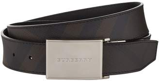 Burberry Checked Leather Belt