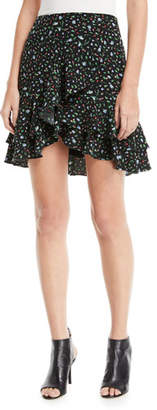 Club Monaco Ampey Floral-Print Mini Skirt