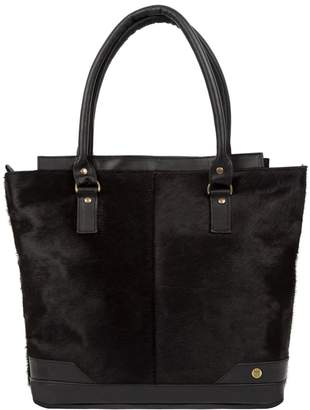 MAHI Leather - Pony Hair Leather Florence Tote In Black