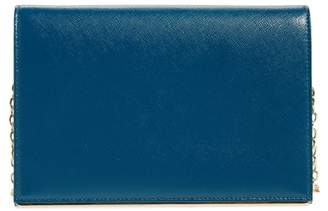 Halogen Bar Leather Crossbody Clutch