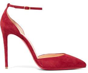 Christian Louboutin Uptown 100 Suede Pumps