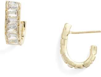Melinda Maria Grace Huggie Hoop Earrings
