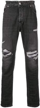 John Richmond distressed slim jeans