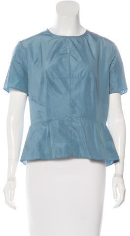 CarvenCarven Scoop Neck Short Sleeve Top