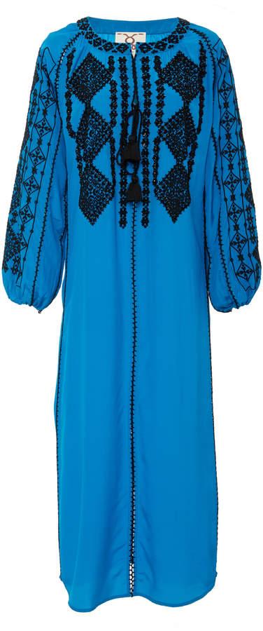 Figue Lana embellished silk maxi dress