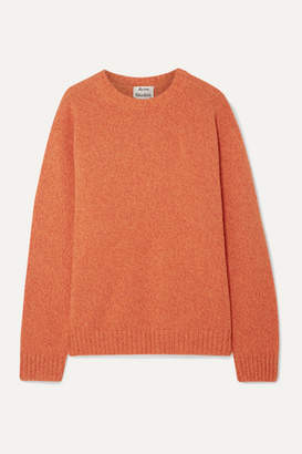 Acne Studios Samara Mélange Wool Sweater - Orange