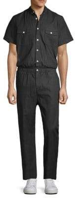 Standard Issue NYC Button-Down Point Collar Jumpsuit