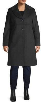 Jones New York Plus Classic Notch Coat