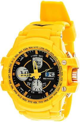 Everlast Mens Yellow Strap Analog/Digital Sport Watch