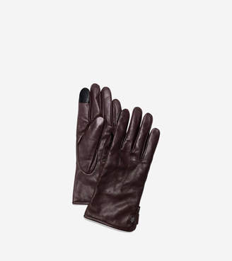 Cole Haan Men's Side Snap Gloves With Center Points