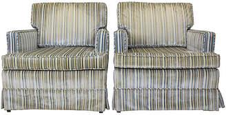One Kings Lane Vintage Midcentury Club Chairs - Set of 2 - Vintage Bella Home