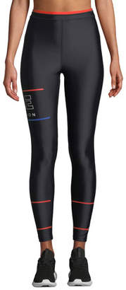 P.E Nation Glory High-Rise Printed High-Performance Leggings