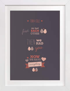 We Three Nursery Custom Art Print