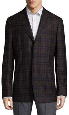 Saks Fifth Avenue Plaid Wool Jacket