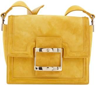 Roger Vivier Yellow Suede Handbag