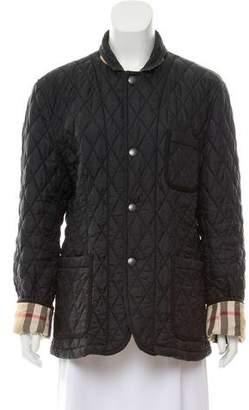 Burberry Quilted Zip Front Jacket