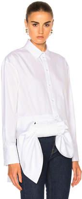 Victoria Beckham Victoria Asymmetric Bow Shirt