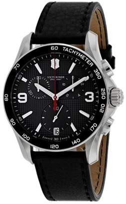 Victorinox Chrono Classic Leather Chronograph Mens Watch 241657