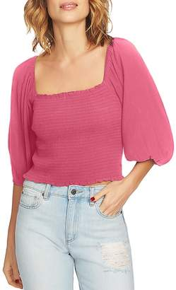 1 STATE 1.STATE Blouson Sleeve Cropped Top