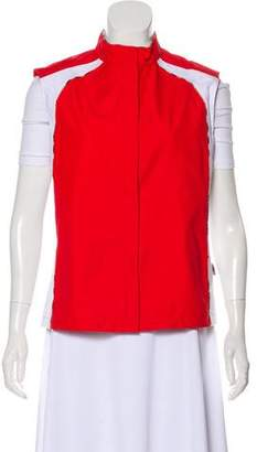 Burberry Golf House Check-Trimmed Zip-Up Vest