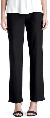 Eileen Fisher Washable-Crepe Straight-Leg Pants $168 thestylecure.com