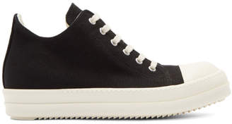 Rick Owens Black and White Cap Toe Sneakers
