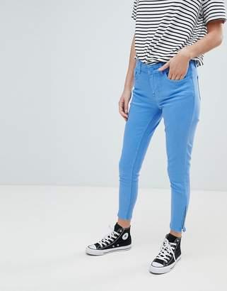 Oasis Zip Hem Skinny Jeans