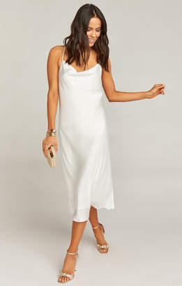 Show Me Your Mumu Verona Cowl Dress ~ Ivory Luxe Satin