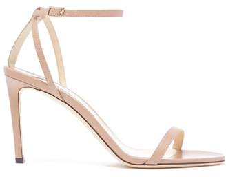 Jimmy Choo Minny 85 Leather Sandals - Womens - Nude