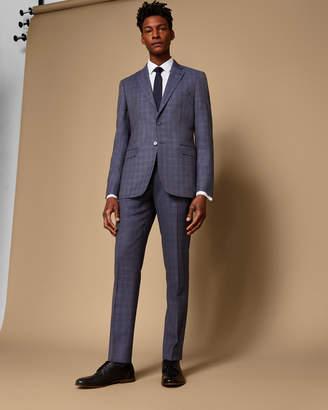 Ted Baker ARIEEST Debonair slim checked wool suit trousers