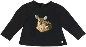 Givenchy Deer Printed Cotton Jersey T-Shirt