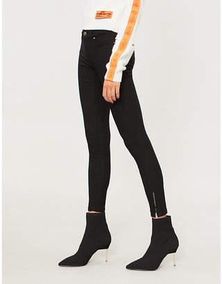 Forever Unique Skinny high-rise stretch-denim jeans