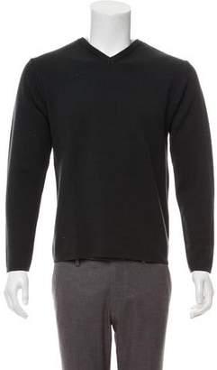 Dolce & Gabbana Extra Fine Merino Wool-Blend V-Neck Sweater
