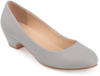 b7a07fae687 Journee Collection Womens Saar Pumps Slip-on Peep Toe Block Heel