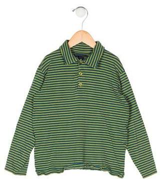 Oscar de la Renta Boys' Stripe Collared Shirt
