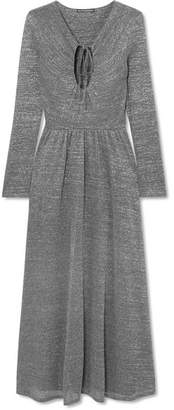 ALEXACHUNG Metallic Stretch-knit Maxi Dress