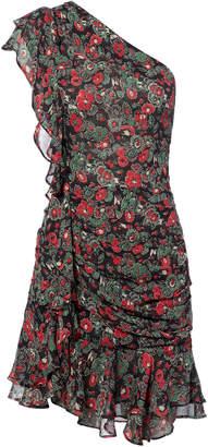 Veronica Beard Ballard One Shoulder Ruched Dress