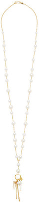 Chan Luu 18K Yellow Gold Plated Silver & Pearl Layer Necklace