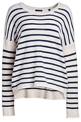 ATM Anthony Thomas Melillo Women's Cashmere Color Block Pullover