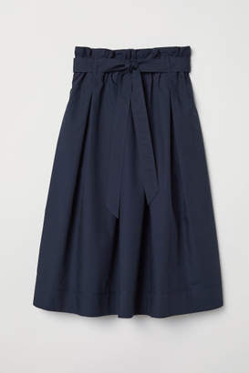 H&M Calf-length Skirt - Blue